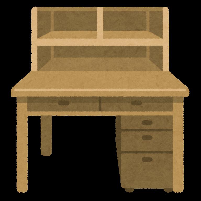机のおともに